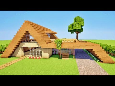 Minecraft tuto comment faire une maison moderne facile a faire - Comment faire une tres belle maison minecraft ...