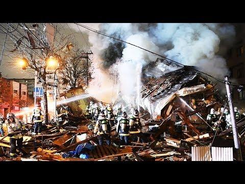 札幌の飲食店付近で爆発 建物倒壊・けが人複数の情報も