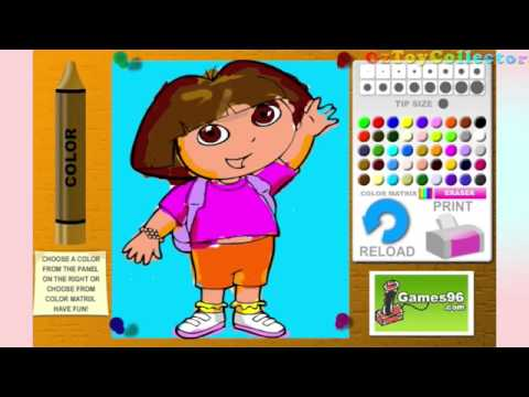 Dora The Explorer Online Games Painting Coloring Book Doddle Game