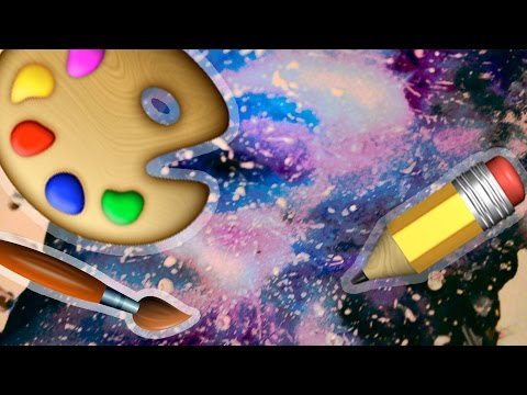 Cum sa pictezi o galaxie | Tutorial