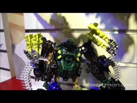 Toy Fair 2014\/Hasbro Media Day Transformers Age of Extinction Construct-Bots Display