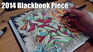PSYM 2014 Graffiti sketch Blackbook Piece [HD 1080]