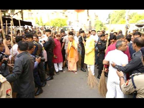 Yogi Adityanath Picks Up Broom After UP City Ranked Last In Swachh Survey 2017