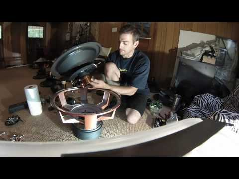 HOW TO BUILD A RECONE USING RAW SUBWOOFER PARTS.