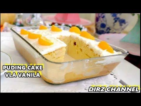 CARA MEMBUAT... PUDING CAKE TAR VLA VANILA TANPA MIXSER, ENAK , LEMBUT & MUDAH BANGET BIKINYA