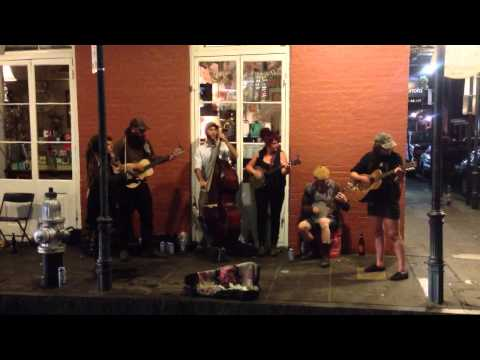 Awesome New Orleans Band Busking on Royal Street