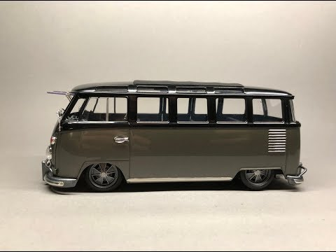 Hasegawa: Volkswagen Type 2 23 Window Bus Full Build Step by Step