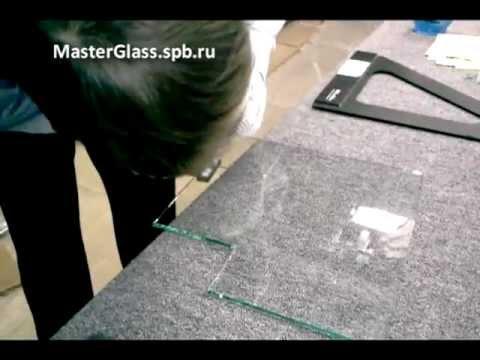 Угловой вырез на стекле (Резка Стекла от Эдуарда)