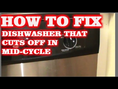 How To Fix A Dishwasher >> DISHWASHER STOPS IN MID-WASH CYCLE. HOW TO FIX - YouTube