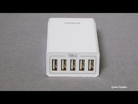 Suaoki 5 port USB mini charging hub 8A max charge capacity