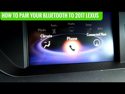 How To Pair Your Bluetooth to 2017 Lexus Models Without Navigation