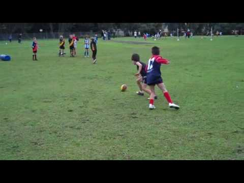 Charlie Chun's first competitive footy drill!