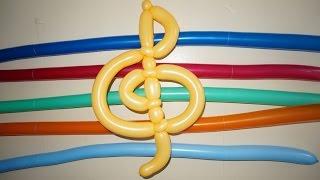 Музыкальный ключ из шариков
