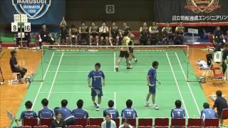 三橋/山村 vs 高木/安村 全日本実業団2014