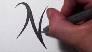 How To Draw a Simple Tribal Letter N