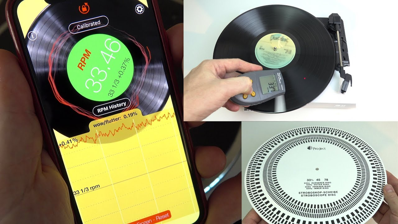 Measuring turntable speed the easy way - with the RPM app