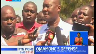 Sospeter Ojaamong defends the loss of sh8 million