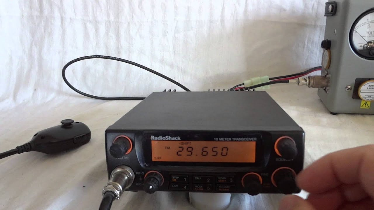 Htx 10 Radio Shack All Mode 10 Meter Ssb Transceiver Youtube