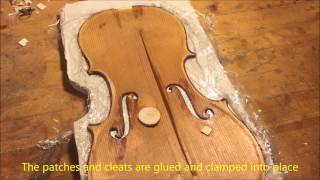 Violin Repair: Old German Strad Model