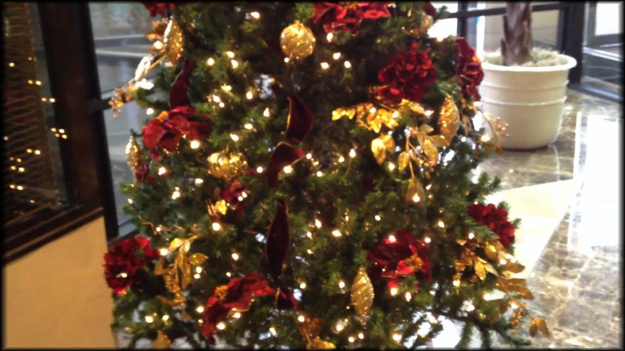 decorate a christmas tree professionally youtube - Christmas Trees Decorated