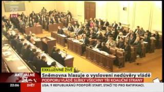 Hlasování o důvěře Nečasovy vlády z 21.prosince 2010 (part2)