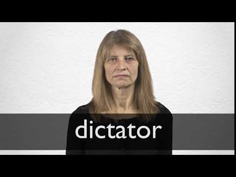 Dictator Synonyms Collins English Thesaurus