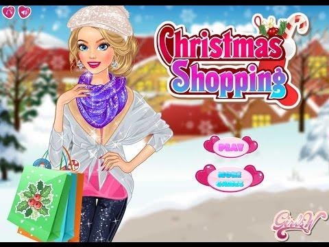 Игра Барби в Рождество магазин за покупками