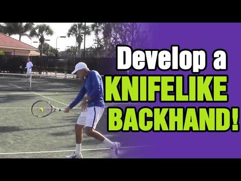 Tennis Backhand Tips - How To Develop A Knifelike Slice Backhand