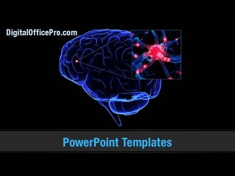 Brain Scan Powerpoint Template Backgrounds - Digitalofficepro