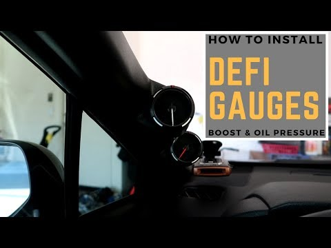 How To Install DEFI Gauges | Boost & Oil Pressure