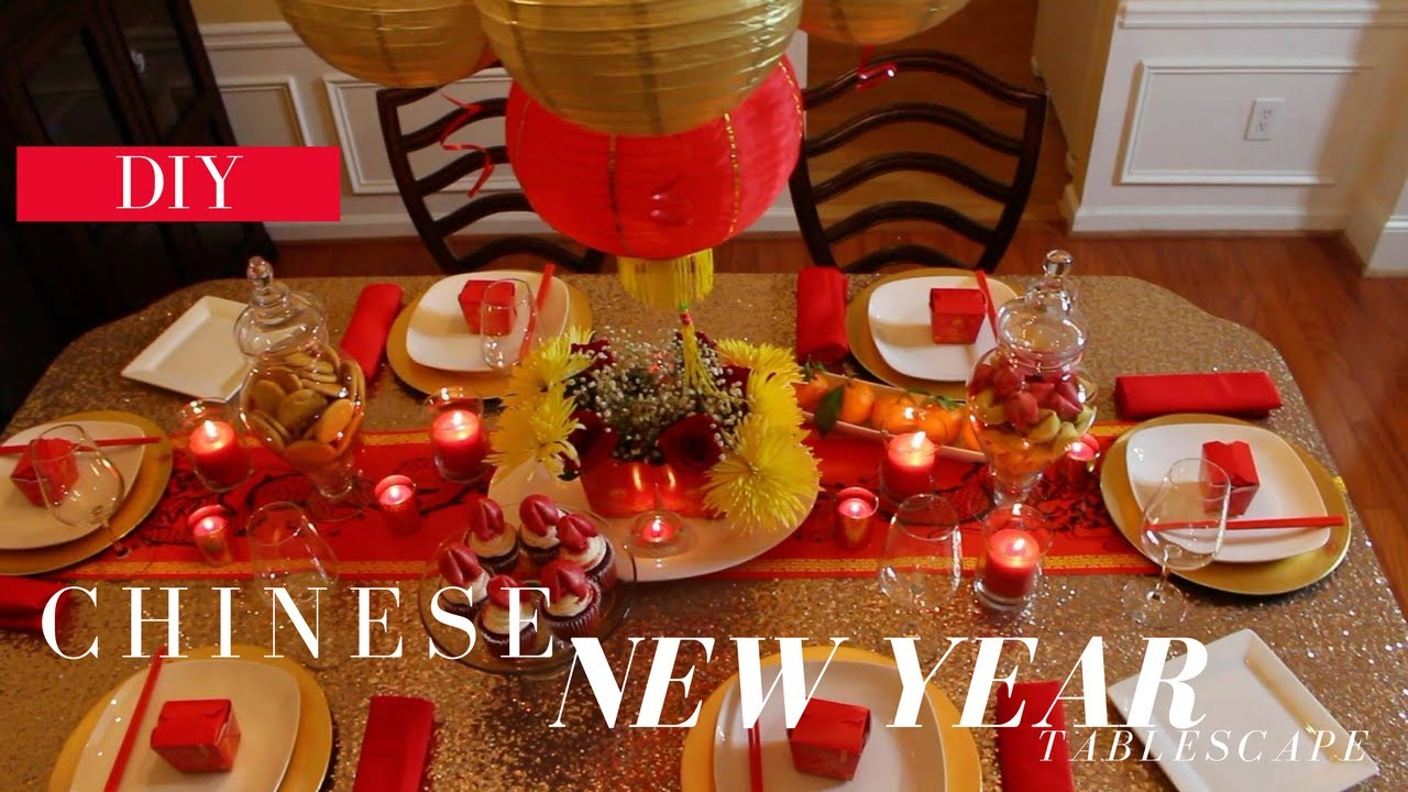 DIY Chinese New Year Tablescape - YouTube