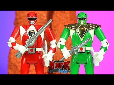 Power Rangers Auto Morphin Red & Green Figures! NEW Legacy Figures!