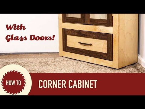 Make A Corner Cabinet With Etched Glass Doors Youtube