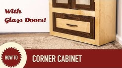 Make a Corner Cabinet with Etched Glass Doors