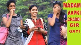 Madam Doing Chaddi Dropping Prank ,Pranks in India,Funny Reaction !Funky TV!