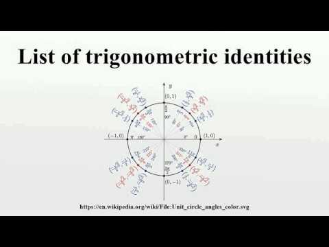 List of trigonometric identities