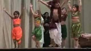 Rujuta (in orange dress) in Amhi Thakar Dance