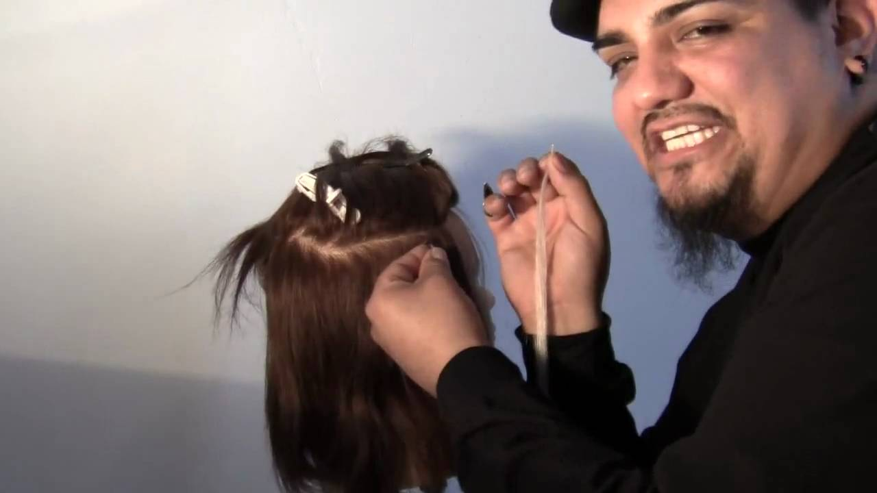 Help Me Learn How To Install I Link Hair Extensions Youtube