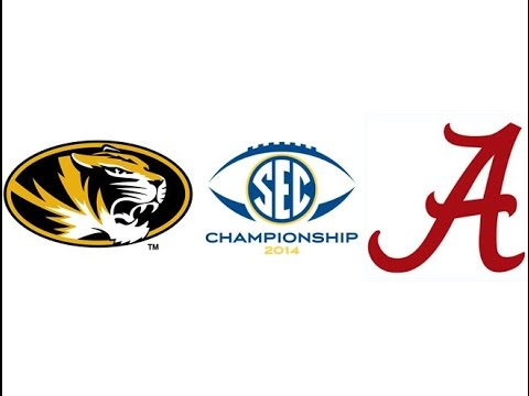 2014 SEC Championship, #1 Alabama vs #16 Missouri (Highlights)