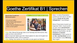 Deutsch B1 Sprechen Prüfung