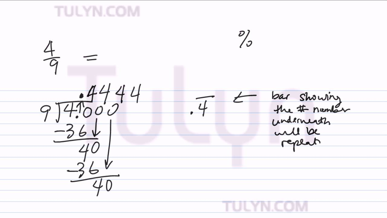 worksheet How To Turn Decimals Into Fractions converting from fractions to non terminating repeating decimals percents