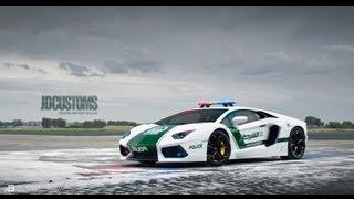 Racing thei Aventador Dubai Police Replica on a Closed Airfield!