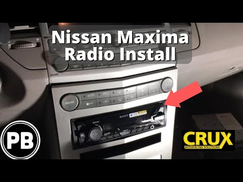 2004 - 2006 Nissan Maxima Bluetooth Stereo Install Sony DSX-A400BT