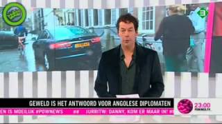 Diplomaat Angola slaat Pownews journalist in elkaar ! Diplomat Angola beat up Dutch journalist! -