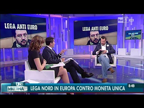 Matteo Salvini intervistato a Unomattina (08/05/2014)