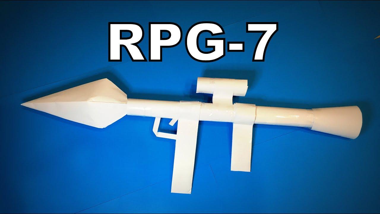 Origami Gun | How to Make a Paper Gun RPG-7 PUBG Shooting DIY | Easy Origami ART Paper Crafts