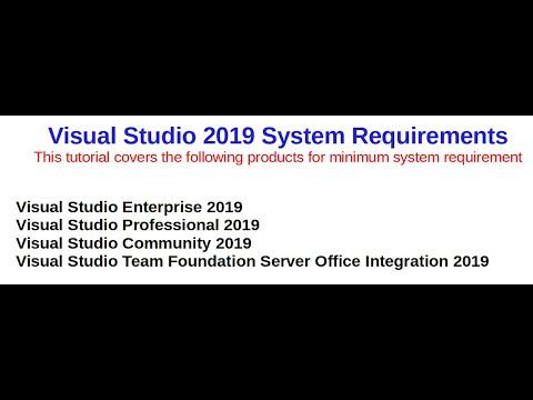 Visual Studio 2019 System Requirement