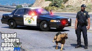 GTA 5 LSPDFR Police Mod 481   California Highway Patrol K9 Unit   Slicktop Crown Victoria