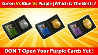 Green Vs Blue Vs Purple + Don't Open Purple Cards Yet! Last Day On Earth Survival