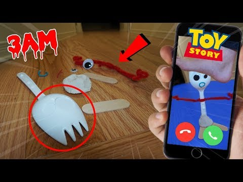 calling-forky-from-toy-story-4-on-facetime-at-3-am!!-*he-got-attacked*